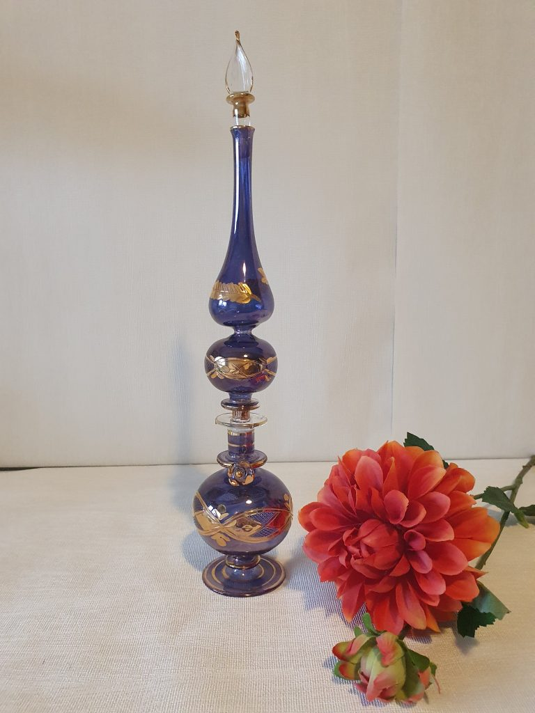 vind brocante vintage curiosa 2dehandsMenu- Venetiaans Glas - Parfum flesjes